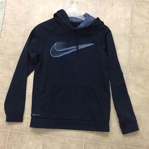 Nike hoodie sweater blue dri fit medium men's